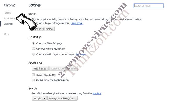 Product Locator Chrome settings