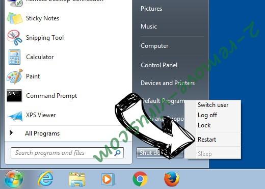 Windows 7 - restart