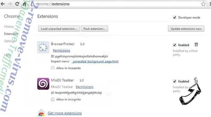 Pushsroutg.com Chrome extensions remove