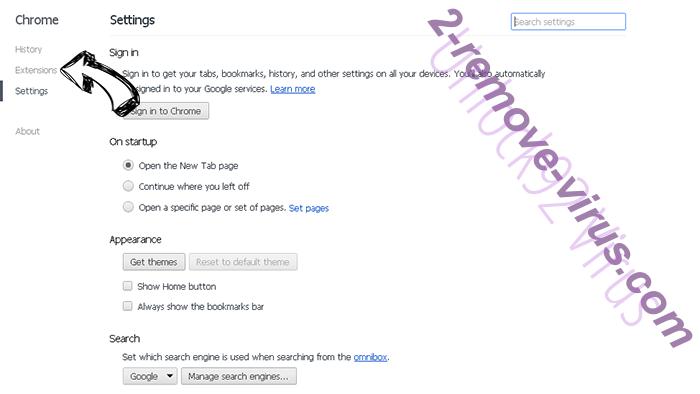 Y2search.com Chrome settings