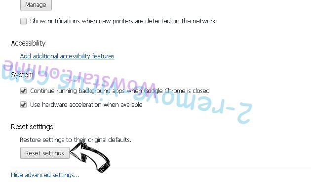 Poshukach.com Chrome advanced menu