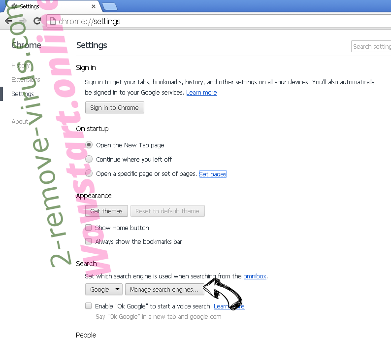 Poshukach.com Chrome extensions disable