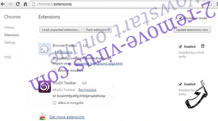 Poshukach.com Chrome extensions remove