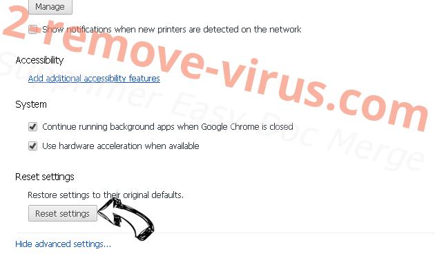 PDFConverterHQ Chrome advanced menu
