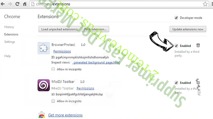 Betonethathadfa.pro Pop-ups Chrome extensions disable