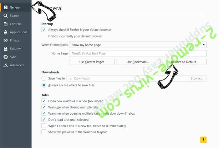 PDFConverterHQ Firefox reset confirm