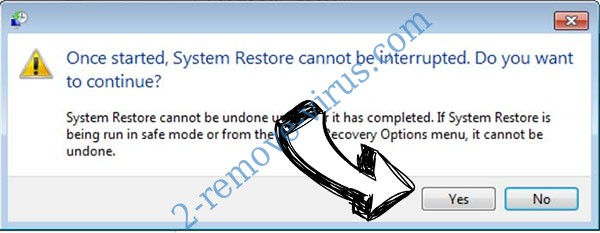 Godes Ransomware removal - restore message