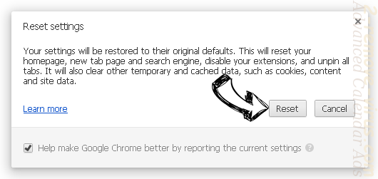 ConsoleProgram Chrome reset