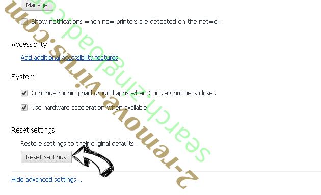 Thehugejournal.com Ads Chrome advanced menu