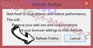 ZoneAlarm Search Firefox reset confirm