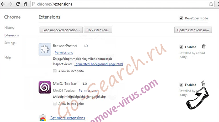 Search.etype.com Chrome extensions remove