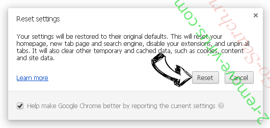 Searchroute Chrome reset