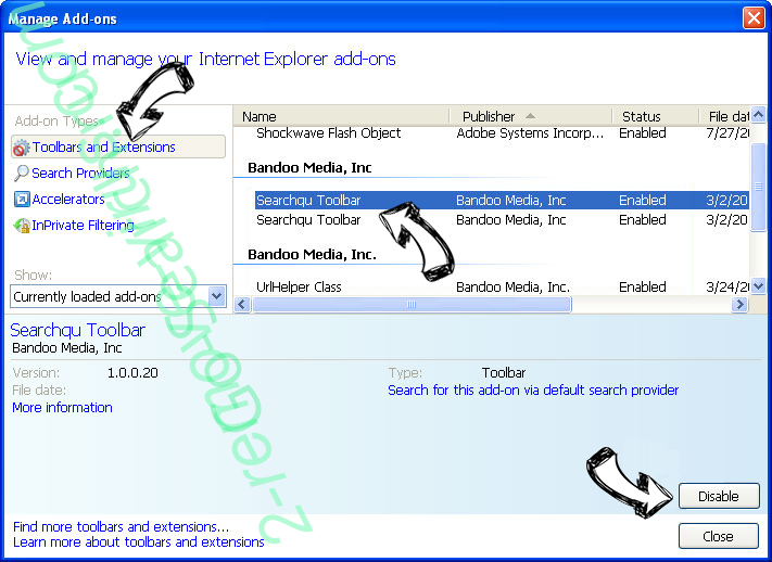 Searchroute IE toolbars and extensions
