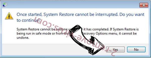 .Acute file virus removal - restore message