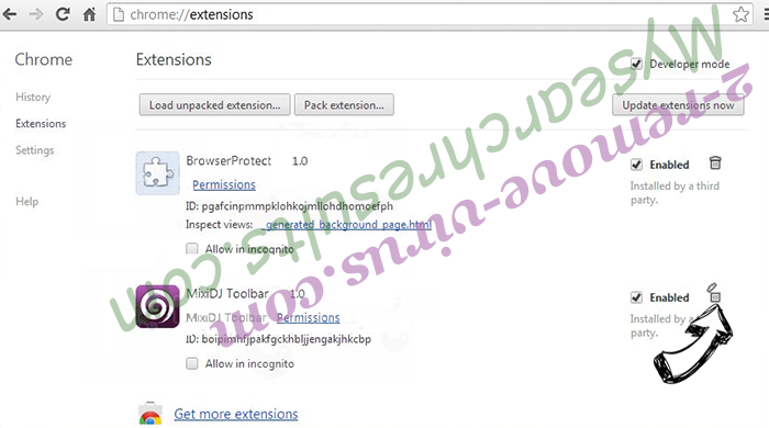 IntelliTerm Adware Chrome extensions remove