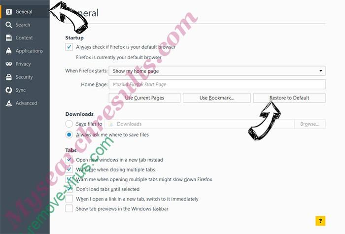 IntelliTerm Adware Firefox reset confirm