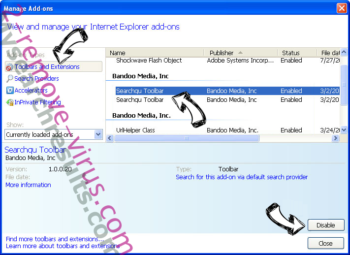 Lijit.com Browser Hijacker IE toolbars and extensions