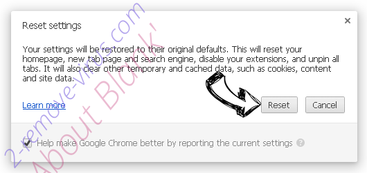 About Blank' Chrome reset