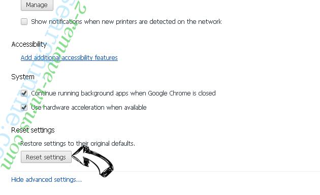 Guardian Search Protector Chrome advanced menu