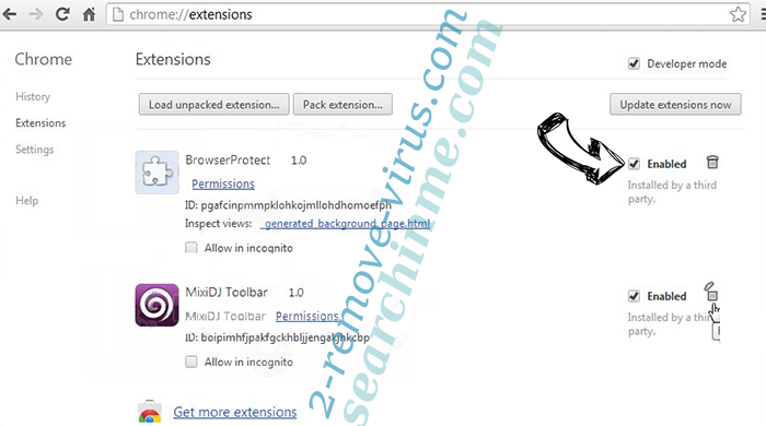 Guardian Search Protector Chrome extensions disable