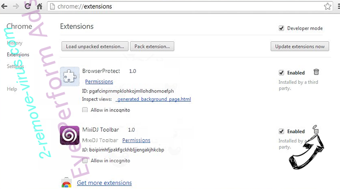 Smart Search Hijacker Chrome extensions remove
