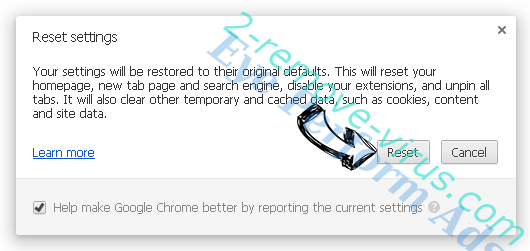Vuze Toolbar Chrome reset