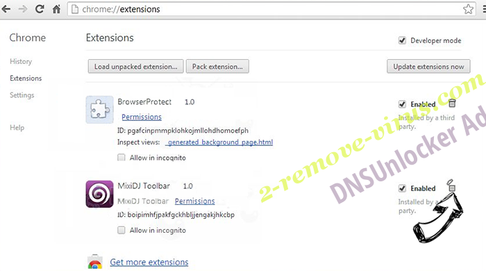 Clickpush.biz virus Chrome extensions remove