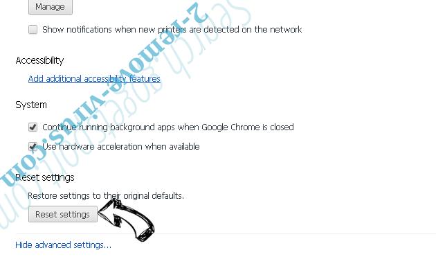 Nfgmyassion.top pop-up ads Chrome advanced menu