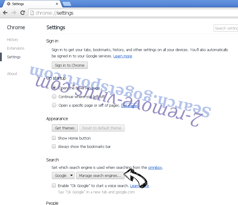 Nfgmyassion.top pop-up ads Chrome extensions disable