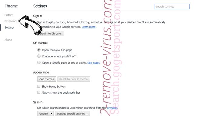 Nfgmyassion.top pop-up ads Chrome settings