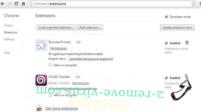 Pony virus Chrome extensions remove