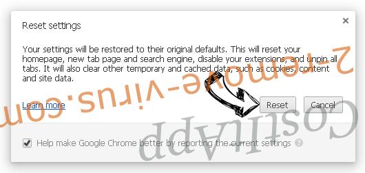 Pony virus Chrome reset
