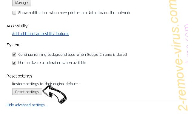 Serch16.biz Chrome advanced menu