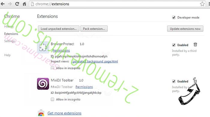 Serch16.biz Chrome extensions remove