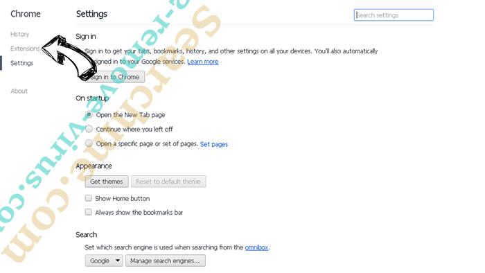 Serch16.biz Chrome settings
