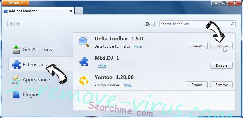 Serch16.biz Firefox extensions