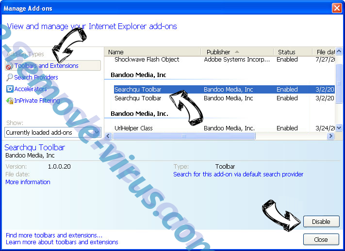 Serch16.biz IE toolbars and extensions