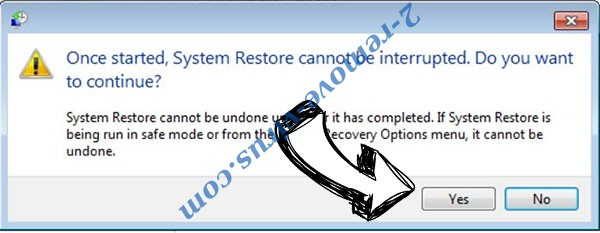 WIN Ransomware removal - restore message