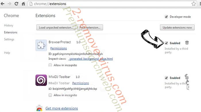 Safe.v9.com Chrome extensions disable