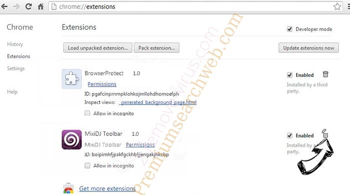 Safe.v9.com Chrome extensions remove