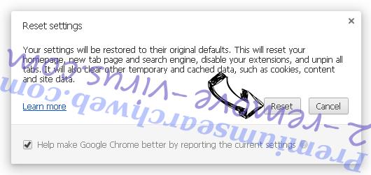 Safe.v9.com Chrome reset