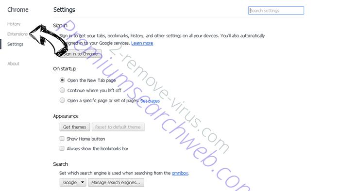Safe.v9.com Chrome settings