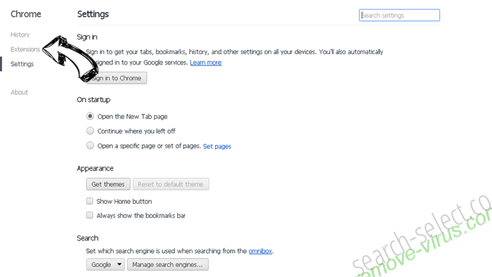 Optimalsearch.me Chrome settings