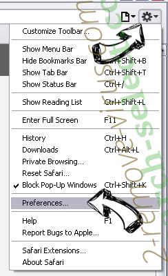 Optimalsearch.me Safari menu