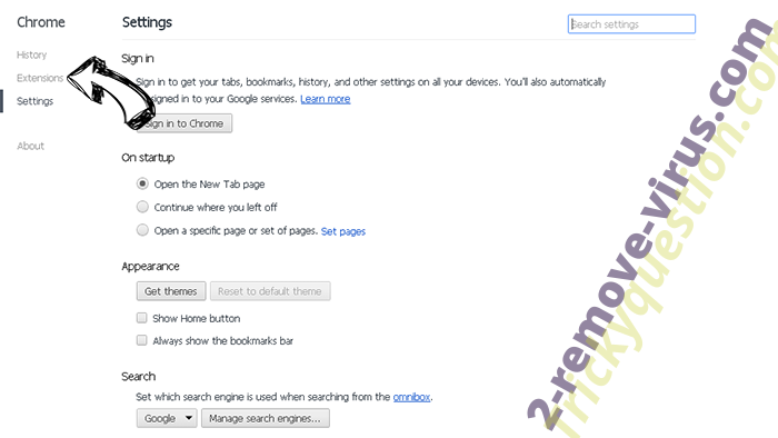 Searchberry.co Chrome settings