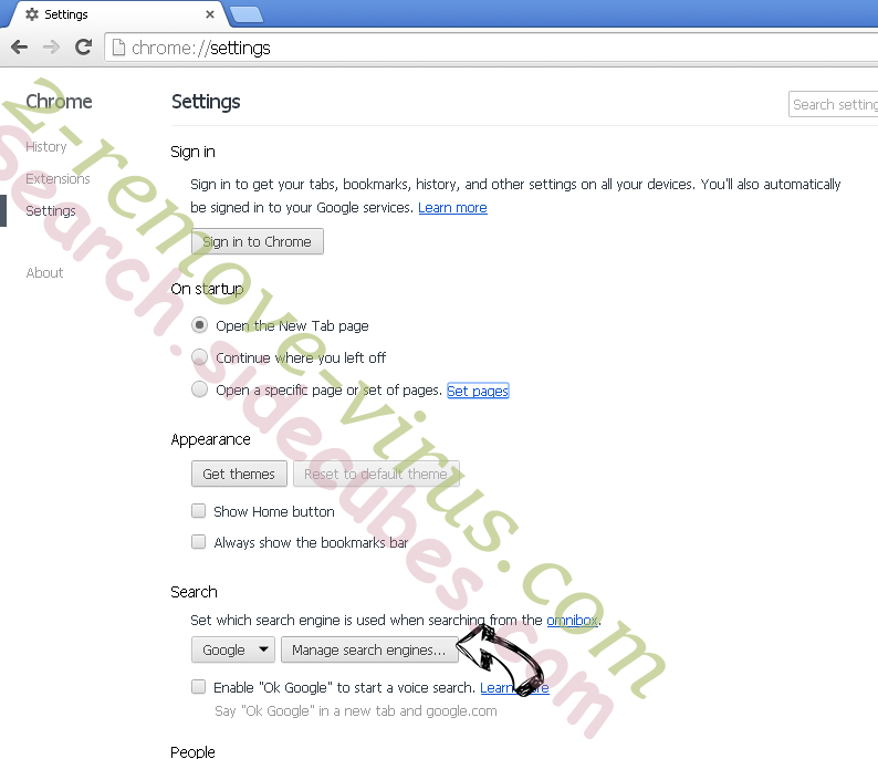 Withenarwitheg.info Chrome extensions disable
