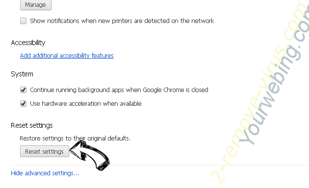 Adware.trace Chrome advanced menu