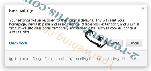 Burst Search Chrome reset