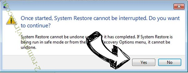 Aim ransomware removal - restore message