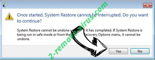 .Cetori file virus removal - restore message